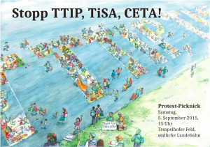 TTIP Protest Picknick