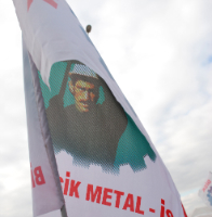 Workers from Metal-Is at the LabourStart 2011 Global Solidarity Conference in Istanbul.