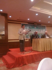 CTUWS founder Kamal Abbas addressing the meeting.