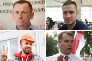 Jailed trade unionists in Belarus.