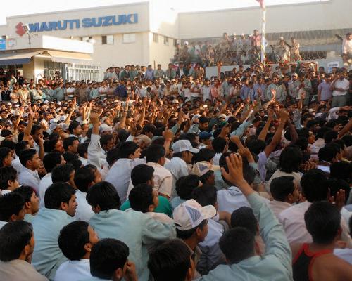 Grève à Maruti Suzuki Manesar