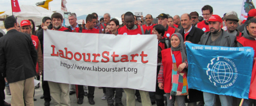 Scene from the LabourStart 2011 Global Solidarity Conference in Istanbul.