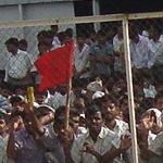 Striking Suzuki workers.