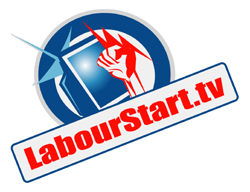 LabourStart.TV as a  logo